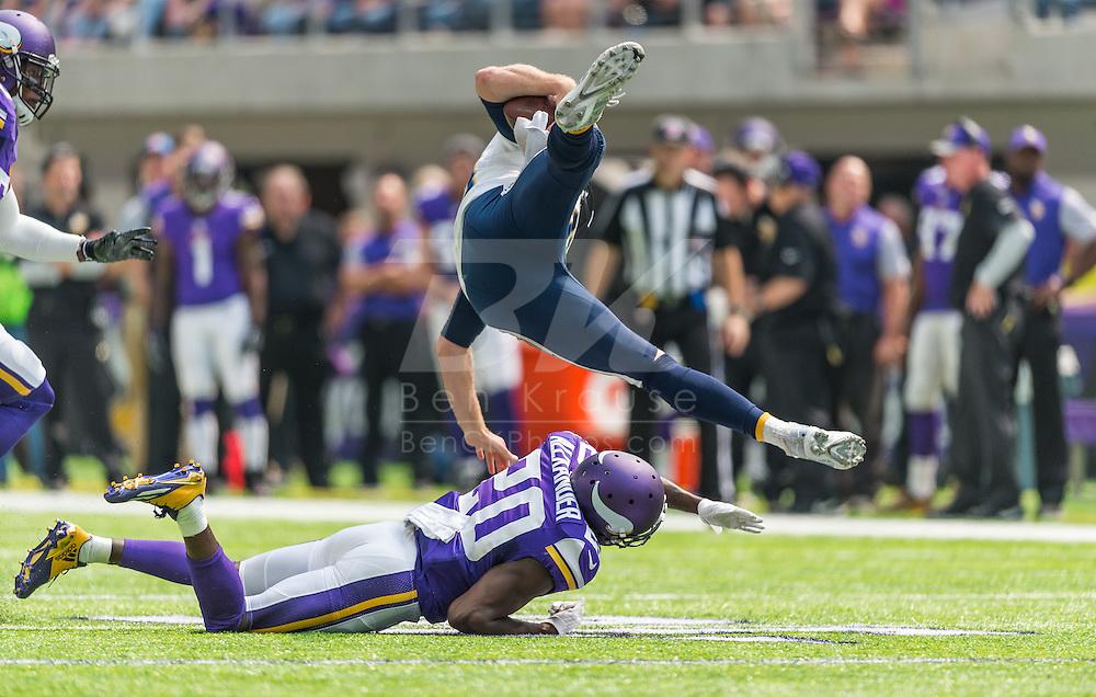 Minnesota Vikings vs. San Diego Chargers on August 28, 2016 at U.S. Bank Stadium in Minneapolis, Minnesota.  Photo by Ben Krause/Minnesota Vikings