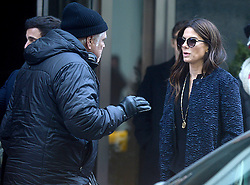 Sandra Bullock makes sure to stay warm as she arrives to the set in chilly NYC to share the silver screen with Cate Blanchett and Helena Bonham Carter. New York City, NY, USA, October 26, 2016. Photo by Dennis Van Tine/ABACAPRESS.COM
