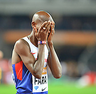 Mo Farah at the Sainsbury's Anniversary Games at the Queen Elizabeth II Olympic Park, London, United Kingdom on 24 July 2015. Photo by Mark Davies.