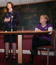 Cabinet Secretary for Training, Youth and Women's Employment, Angela Constance, MSP, launched her campaign to become the next Depute Leader of the SNP. Ms Constance is MSP for Almond Valley. Pictured Angela Constance and Lorn Skirving.  Addiewell 1 October 2014 Ger Harley   StockPix.eu