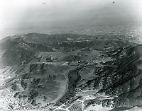1923 Looking south on Cahuenga Pass into Hollywood