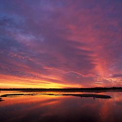 Sanibel, FL. The colors of sunset at Ding Darling National Wildlife Refuge on Sanibel Island.
