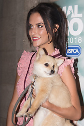 Grosvenor House Hotel, London, September 7th 2016. Celebrities attend the RSPCA's annual awards ceremony recognising the country's bravest animals and the individuals committed to improving their lives. PICTURED: Made In Chelsea's Lucy Watson