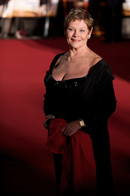 London.  October 29, 2008.  Actress Judi Dench attends the royal world premiere of 'Quantum of Solace,' the 22nd film in the James Bond franchise, at the Odeon Theater in Leicester Square on October 29, 2008.  (Photo by Mark Bryan Makela)