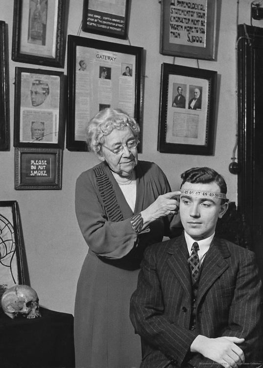 Phrenologist, Catherine Stackpool O'Dell, London, 1936