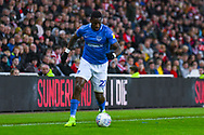Omar Bogle of Portsmouth (22) in action during the EFL Sky Bet League 1 first leg Play Off match between Sunderland and Portsmouth at the Stadium Of Light, Sunderland, England on 11 May 2019.