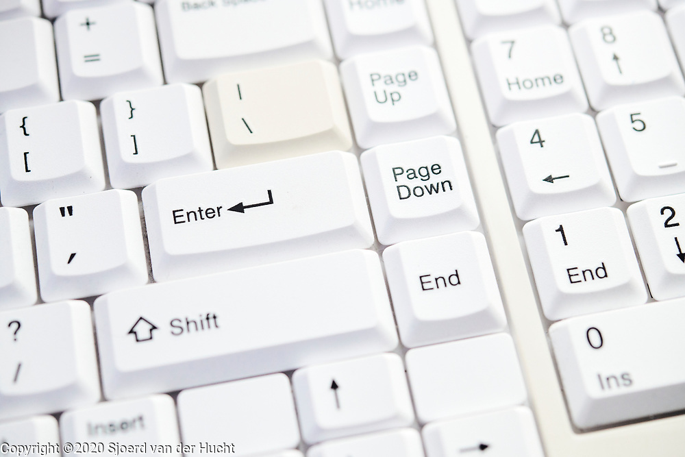 Keyboard of a computer   Toetsenbord van een computer.