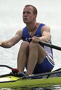 2002 FISA World Cup. Hazewinkel. BEL.       Friday  14/06/2002     .email images@Intersport-images.com.[Mandatory Credit: Peter Spurrier/Intersport Images]  .                                 /06/2002.Rowing. ..GBR3 LMiX. Alasdair STUART (b) Rowing, FISA WC.Hazenwinkel, BEL