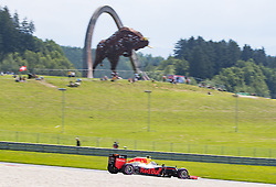 03-07-2016 AUT: Grand Prix van Oostenrijk Formule 1 Red Burg Ring, Spielberg<br /> Dutch Formula One driver Max Verstappen of Red Bull Racing Australian Formula One drive Daniel Ricciardo of Red Bull Racing during the Race for the Austrian Formula One Grand Prix at the Red Bull Ring in Spielberg,<br /> <br /> ***NETHERLANDS ONLY***