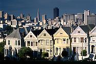 The Seven Painted Ladies, row of Victorian-era houses near Alamo Square, San Francisco, California