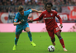 03.11.2018, 1. BL, FC Bayern vs SC Freiburg, Allianz Arena Muenchen,  Fussball, Sport, im Bild:...Lucas Hoeler (SC Freiburg) vs Renato Sanches (FCB)..DFL REGULATIONS PROHIBIT ANY USE OF PHOTOGRAPHS AS IMAGE SEQUENCES AND / OR QUASI VIDEO...Copyright: Philippe Ruiz..Tel: 089 745 82 22.Handy: 0177 29 39 408.e-Mail: philippe_ruiz@gmx.de. (Credit Image: © Philippe Ruiz/Xinhua via ZUMA Wire)