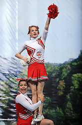 Viqueens Spirit, Norway during All Female senior at second day of European Cheerleading Championship 2008, on July 6, 2008, in Arena Tivoli, Ljubljana, Slovenia. (Photo by Vid Ponikvar / Sportal Images).