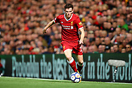 Andrew Robertson of Liverpool in action. Premier League match, Liverpool v Burnley at the Anfield stadium in Liverpool, Merseyside on Saturday 16th September 2017.<br /> pic by Chris Stading, Andrew Orchard sports photography.