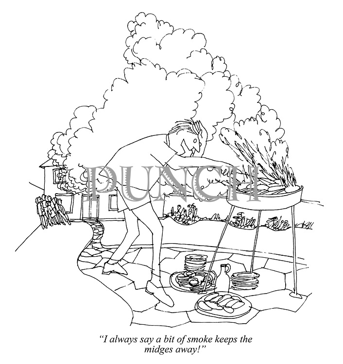 """I always say a bit of smoke keeps the midges away!"""