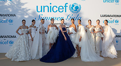 Abiti Ashistudio, Gioielli Chopard arriving at a photocall for the Unicef Summer Gala Presented by Luisaviaroma at Villa Violina on August 10, 2018 in Porto Cervo, Italy. Photo by Alessandro Tocco/ABACAPRESS.COM