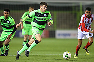 Forest Green Rovers Lewis Spurrier(8) runs forward during the FA Youth Cup match between U18 Forest Green Rovers and U18 Cheltenham Town at the New Lawn, Forest Green, United Kingdom on 29 October 2018.