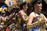 Oruro carnival February 2010. Dancers taking part in the parade.