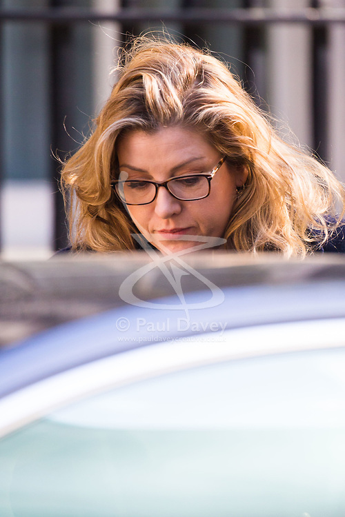 Secretary of State for International Development Penny Mordaunt arrives at 10 Downing Street to attend the weekly cabinet meeting.