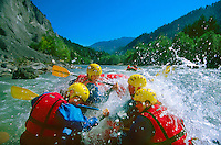 """Whitewater rafting the Ruinaulta (Rhine Gorge) (known as the """"Little Swiss Grand Canyon"""") Flims Laax Falera area, Switzerland"""