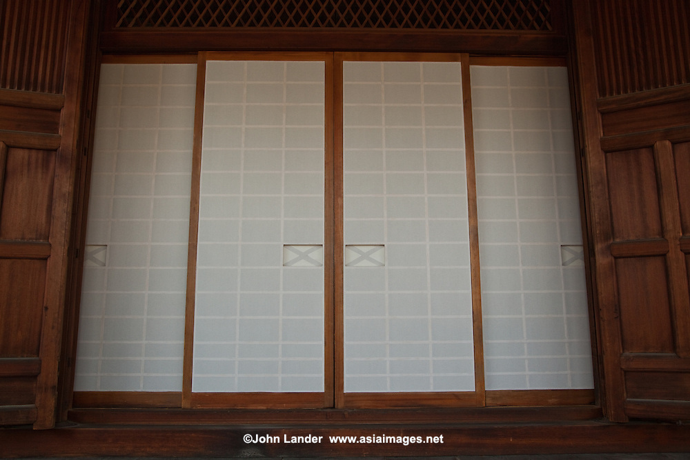 Shoji Paper Screens - In traditional Japanese architecture, a shojiis a door, window or room divider consisting of  paper over a frame of wood which holds together a sort of grid of wood or bamboo. While washi is the traditional paper, shoji may be made of paper made by modern manufacturing processes; plastic is also sometimes used.