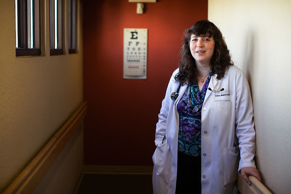 September 12, 2018 | Silver City, New Mexico | Dr. Colicia Meyerowitz at Silver Health Care clinic in Silver City.