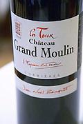 La Tour red. Chateau Grand Moulin. In Lezignan-Corbieres. Les Corbieres. Languedoc. France. Europe. Bottle.