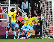 Crystal Palace's Scott Dann celebrates scoring his sides second goal<br /> <br /> Barclays Premier League - West Ham United  vs Crystal Palace  - Upton Park - England - 28th February 2015 - Picture David Klein/Sportimage