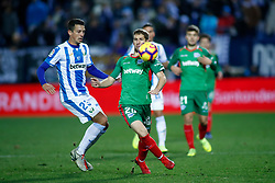 November 23, 2018 - Leganes, MADRID, SPAIN - Darko of Alaves and Vesga of Leganes during the Spanish Championship La Liga football match between CD Leganes and Deportivo Alaves on November 23th, 2018 at Estadio de Butarque in Leganes, Madrid, Spain. (Credit Image: © AFP7 via ZUMA Wire)