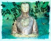 Stylized statue