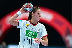 Xenia Smits of Germany in action during the Women's EHF Euro 2020 match between Germany and Norway at Sydbank Arena on december 05, 2020 in Kolding, Denmark (Photo by RHF Agency/Ronald Hoogendoorn)