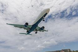 Jet Passing Over Beach