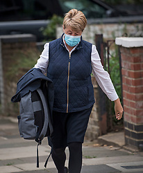 © Licensed to London News Pictures. 21/06/2021. London, UK. Health Secretary Mat Hancock's driver returns to his home to collect his bag and coat, which he forgot to take with him. Former chief advisor to number 10, Dominic Cummings, has released a series of attacks on government handling of the coronavirus pandemic. Photo credit: Ben Cawthra/LNP