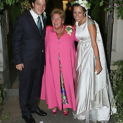 USA/New York/20090905 - Huwelijk Bernardo Guillermo en Eva Prinz -Valdez in New York in New York, bruidspaar met schoonmoeder Christina