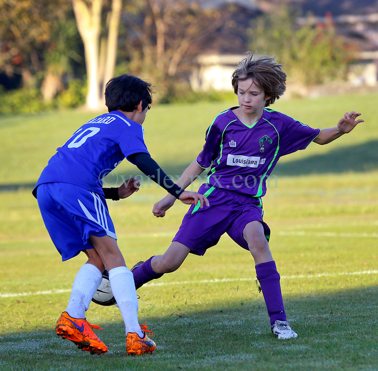 06 December 2015. Missouri City, Texas. <br /> Eclipse Soccer Club, 8th Annual Academy Cup - Toby Lazor Classic.<br /> New Orleans Jesters Youth Academy U10 Purple v ID Chelsea 06B. 1st game.<br /> Chelsea win 5-0.<br /> Photo©; Charlie Varley/varleypix.com