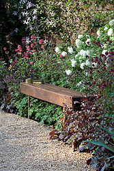 Simple wooden bench seat