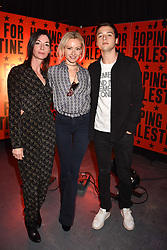 """Mary McCartney, Camilla Al Fayed and Arthur Donald at """"Hoping For Palestine"""" Benefit Concert For Palestinian Refugee Children held at The Roundhouse, Chalk Farm Road, England. 04 June 2018. <br /> Photo by Dominic O'Neill/SilverHub 0203 174 1069/ 07711972644 - Editors@silverhubmedia.com"""