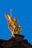 Gold statue, Dresden, Saxony, Germany