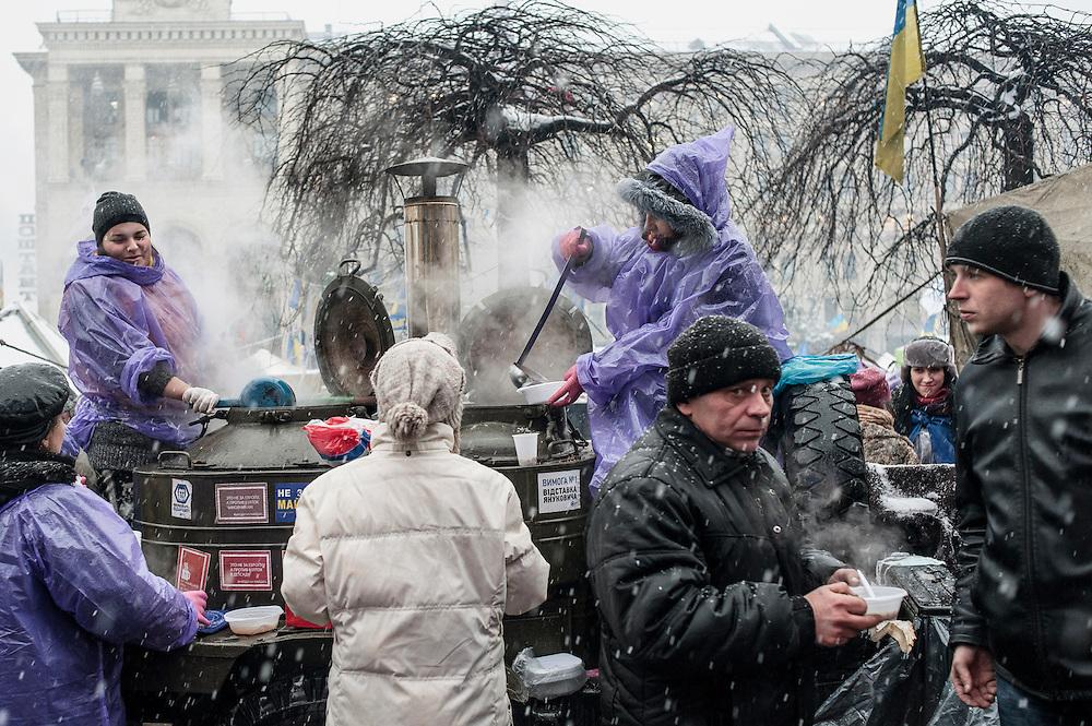 Place de l'indépendance à Kiev, Ukraine, le 9 décembre 2013.