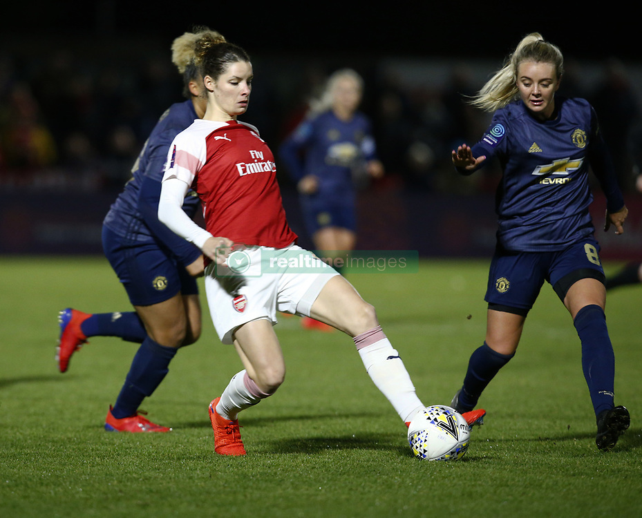 February 7, 2019 - London, England, United Kingdom - Dominique Bloodworth of Arsenal .during FA Continental Tyres Cup Semi-Final match between Arsenal and Manchester United Women FC at Boredom Wood on 7 February 2019 in Borehamwood, England, UK. (Credit Image: © Action Foto Sport/NurPhoto via ZUMA Press)
