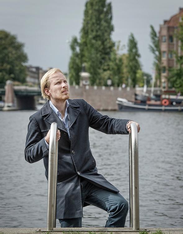 Netherlands. Amsterdam, 10-09-2014. Photo: Patrick Post. Portrait of Rutger Bregman.