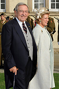 Religious wedding of Grand Duke Guillaume and Princess Stephanie at the Cathedral Notre-Dame in Luxembourg <br /> <br /> On the photo:  Queen Anne-Marie and King Constantine of Greece