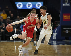 March 21, 2019 - Minneapolis, MN, U.S.A - Lakeville North guard Tyler Wahl (31) drove against Park Center guard Tommy Chatman (11) in the second half.  ]  JEFF WHEELER • jeff.wheeler@startribune.com ....Lakeville North upset Park Center 47-45 in a semifinal game of the Class 4A boys' basketball tournament Thursday night, March 21, 2019 at Target Center in Minneapolis. (Credit Image: © Jeff Wheeler/Minneapolis Star Tribune via ZUMA Wire)