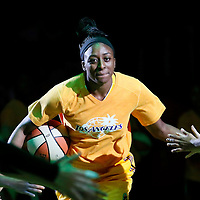 24 July 2014: Los Angeles Sparks forward Nneka Ogwumike (30) is seen during the players introduction prior to the Phoenix Mercury 93-73 victory over the Los Angeles Sparks, at the Staples Center, Los Angeles, California, USA.