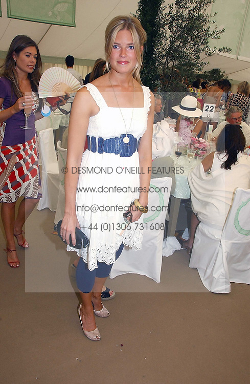 ISABELLA ANSTRUTHER-GOUGH-CALTHORPE at the Cartier International polo at Guards Polo Club, Windsor Great Park, on 30th July 2006.<br /><br />NON EXCLUSIVE - WORLD RIGHTS