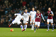 Ngolo Kante of  Leicester city (l)  in action. Barclays Premier league match, Aston Villa v Leicester city at Villa Park in Birmingham, The Midlands on Saturday 16th January 2016.<br /> pic by Andrew Orchard, Andrew Orchard sports photography.