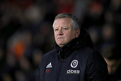 """Sheffield United manager Chris Wilder during the Sky Bet Championship match at Bramall Lane, Sheffield. PRESS ASSOCIATION Photo. Picture date: Friday December 8, 2017. See PA story SOCCER Sheff Utd. Photo credit should read: Mike Egerton/PA Wire. RESTRICTIONS: EDITORIAL USE ONLY No use with unauthorised audio, video, data, fixture lists, club/league logos or """"live"""" services. Online in-match use limited to 75 images, no video emulation. No use in betting, games or single club/league/player publications."""