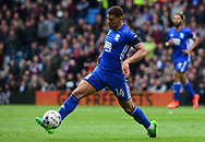 Che Adams of Birmingham city in action.  EFL Skybet championship match, Aston Villa v Birmingham city at Villa Park in Birmingham, The Midlands on Sunday 23rd April 2017.<br /> pic by Bradley Collyer, Andrew Orchard sports photography.