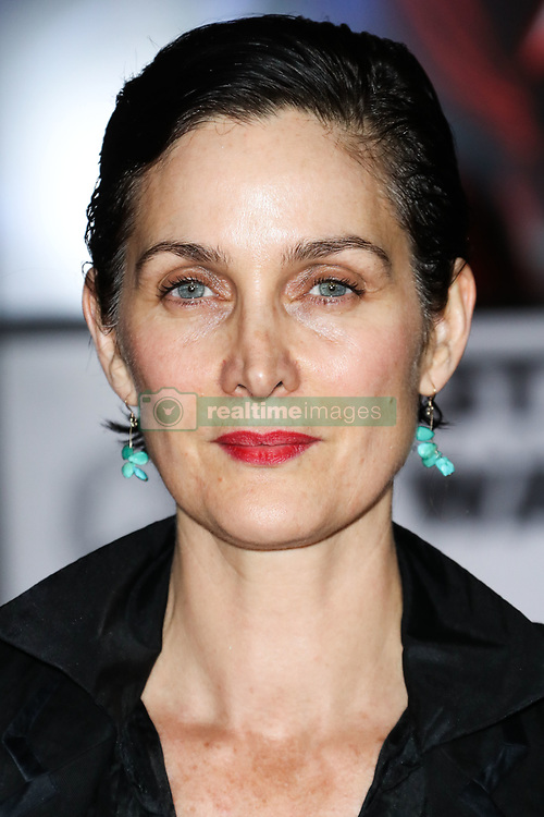 World Premiere Of Disney Pictures And Lucasfilm's 'Star Wars: The Last Jedi' held at The Shrine Auditorium on December 9, 2017 in Los Angeles, California, United States. 09 Dec 2017 Pictured: Carrie-Anne Moss. Photo credit: IPA/MEGA TheMegaAgency.com +1 888 505 6342