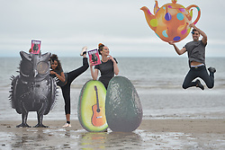 The official photocall to launch the Edinburgh Festival Fringe 2016 programme featuring elements of this year's Defying Convention campaign, Edinburgh Festival Fringe 2016, West Portobello Beach,  Edinburgh, 6th June 2016, <br /> (c) Brian Anderson   Edinburgh Elite media