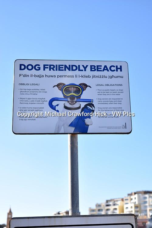 Dog friendly beach sign